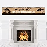 Big Dot of Happiness Wild Safari - African Jungle Adventure Birthday Party Decorations Party Banner