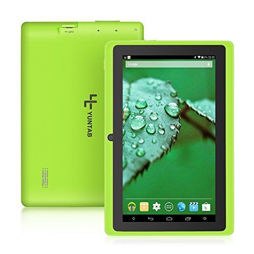 【2019年進化版】YUNTAB 7インチタブレット Q88 Tablet PC 1GB RAM+8GB ROM Android 4.4.2 クアッドコア 1.5GHz HD1024*600 google play WIFI Bluetooth(緑)