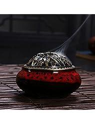 セラミック ホームデコレーション インセンススティック コーン バーナー 磁器 香炉 onesize Ice-Incense Burner-Jesper Red