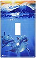 Art Plates - Dolphins at Play Switch Plate - Single Toggle [並行輸入品]