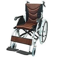 ケアテックジャパン 自走式 アルミ製 車椅子 CA-32SU ハピネスプレミアム (ブラウン)