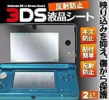 反射防止液晶保護シール(シート)■任天堂3DS専用(nintendo3DS) 上下画面を保護するフィルム2枚とクリーナークロス付き!