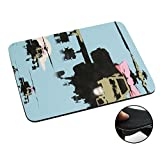 002278 - Banksy Helicopters Army Apache Design Macbook PC Laptop Anti-slip Mousepad Mouse Mat Tpu Leather-Slim 3MM