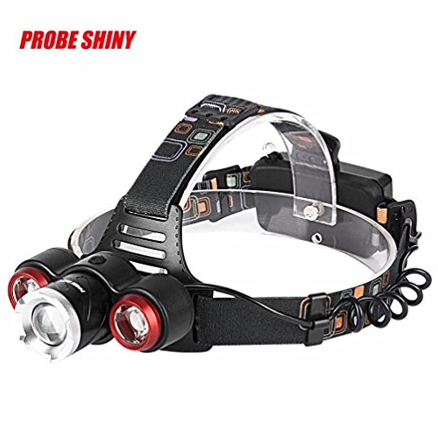 花火雇った広告ヘッドライト TangQI ヘッドランプ 850Lm XML T6 + 2R5 3 LED 充電式 18650 ヘッドランプ ヘッドライト トーチ
