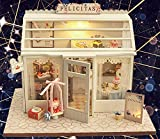 ソフィー DIYドールハウス ケーキ屋 手作りキットセット ミニ家具工芸品キット LEDライト ミニチュアコレクション クリスマスギフト プレゼント インテリア