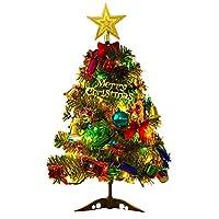 Ourine クリスマスツリー ツリー ルミネーション 北欧風 おしゃれ キラキラ 雰囲気満々 暖かい LED 簡単な組立品 飾り 部屋 商店 20点セット 50cm (50cm)