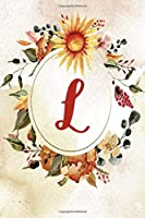 """2020 Weekly Planner, Letter L, Orange Green Floral Design: 6""""x9"""" Weekly Planner/Calendar (Letter/Initial L - Orange Green Floral 6""""x9"""" Planner/Calendar Alphabet Series)"""