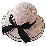 Plus Nao(プラスナオ) ストローハット ガールズ 女の子 子供 レディース 女性 日除け つば広 リボン おしゃれ かわいい 麦わら帽子 帽子