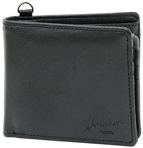 EDWIN(エドウィン) 財布 合皮 二つ折り ベラ付き ブラック Free