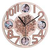 GIFT GARDEN 掛け時計 木製 フォト窓付き B161107