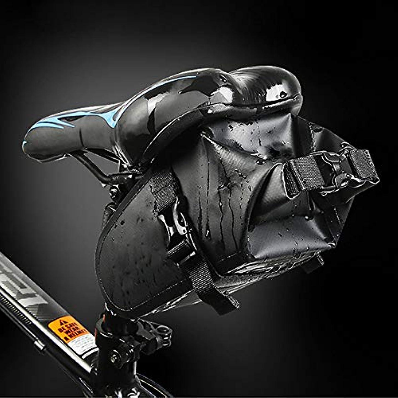 注ぎます市民権ライムバイクサドルバッグ、マウンテンバイクシートパック防水自転車シートポーチ付きエクストラネットポーチテールフック用アウトドアサイクリング