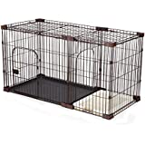 Petscene XL Size Foldable Cat Dog Pet Cage Wired Crate House Enclosure w/Toilet Tray