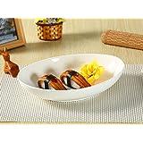 楕円皿(10.5号)/パスタ皿/カレー皿/おうちカフェ/業務用食器/白食器