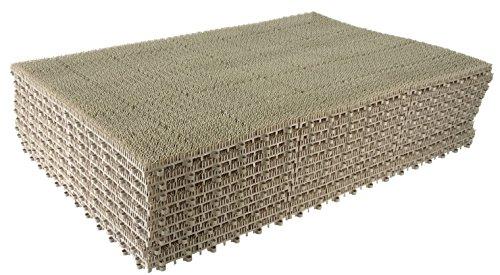 山崎産業 日本製 ジョイント人工芝 若草ユニット E-V グレー 60cm×90cm (30cm6枚組み) 10枚セット B071JQTBXN 1枚目