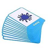 Baosity 子供 教育玩具 英語学習カード 画像 単語カード フラッシュカード 多種類可選 - カラー