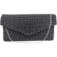 Evening Bag Bling Rhinestone Clutch Purse Fashion Wedding Party Clutch Handbag Shoulder Bag with Chain for Women