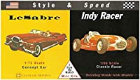 GM3608 1/72 セイバーコンセプトカー & 1/60 インディ・レーサー スタイル&スピードセット