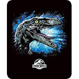 "Regal Comfort Jurassic World Blue The Dinosaur Faux Fur Mink Throw Blanket 79"" x 96"" Queen/Full Size"