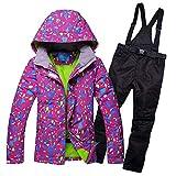 FENXIMEI 冬 スキースーツ ジャケット パンツ スーパーウォーム スノーボード ズボン 通気性 アウトドア スポーツウェア 女性用 上下セット
