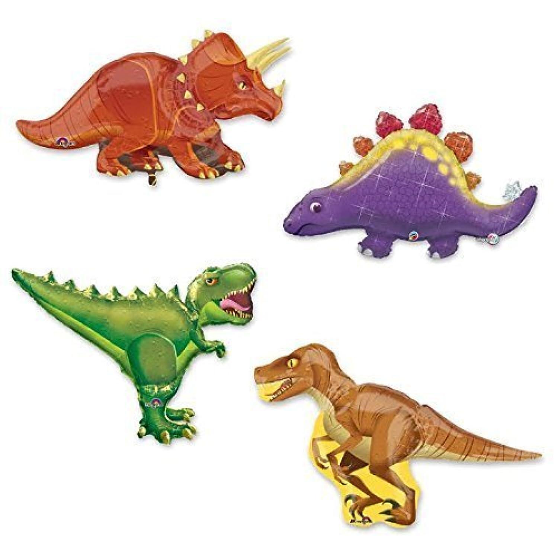 Giant 4 pc恐竜箔パーティーバルーン