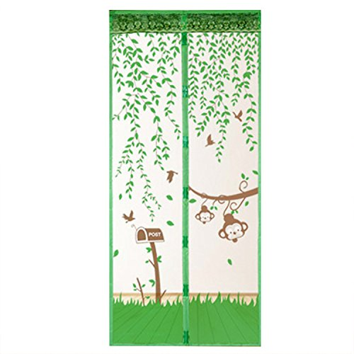 Zhaozhe網戸玄関ベランダドア用カーテンマグネット式張り替え虫よけ開き戸取り付け簡易自動で閉まる