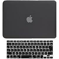 MS factory MacBook Pro 13 Retina ディスプレイ ケース + 日本語 キーボード カバー ハードケース Late 2012~Early 2015/A1425 A1502 対応 全14色カバー RMC series マックブック プロ レティナ 13.3 インチ マット加工 ブラック 黒 RMC-SETR13MBK