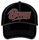 デビットボウイ デヴィットボウイ David Bowie フラッシュロゴ キャップ 帽子 【ロンドン直輸入オフィシャルグッズ】