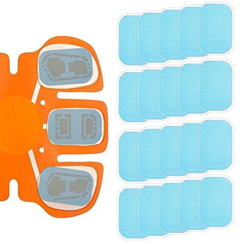 Haibei 腹筋ベルトジェルシート 交換パッド EMS腹筋ベルト用 高電導ジェルシート 20枚 腕筋 トレーニング ダイエット シェイプ 脂肪燃焼 互換パッド