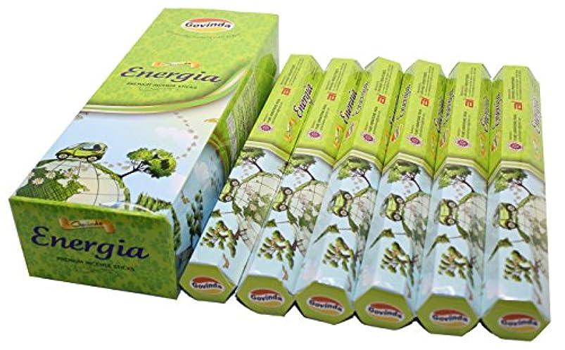 塗抹部弾薬Govinda ® Incense – エネルギー( Energia ) – 120 Incense Sticks、プレミアムIncense、Masalaコーティング