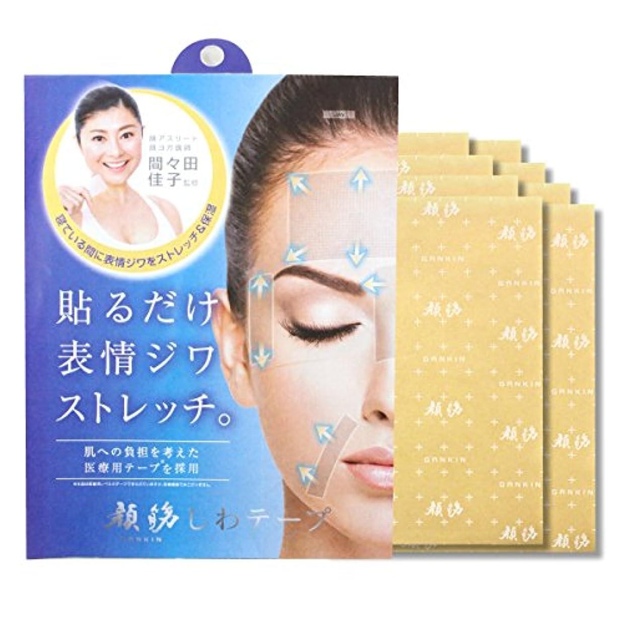 強度振り子シェア顔筋シワテープ (8枚組)