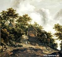 ロイスダール 「ベントハイム城の見える風景」 原画同縮尺近似(12号) ruysdael-01-04