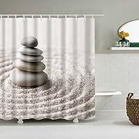 浴室のシャワーカーテン シャワーカーテンシャワーカーテンラッキーStパターン防水クイックトゥドライ環境に優しい材料メタルフック吊り穴 (サイズ : 180*180cm)