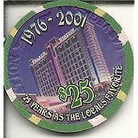 $ 25 Palace駅の25年Beingローカルお気に入りラスベガスカジノチップ