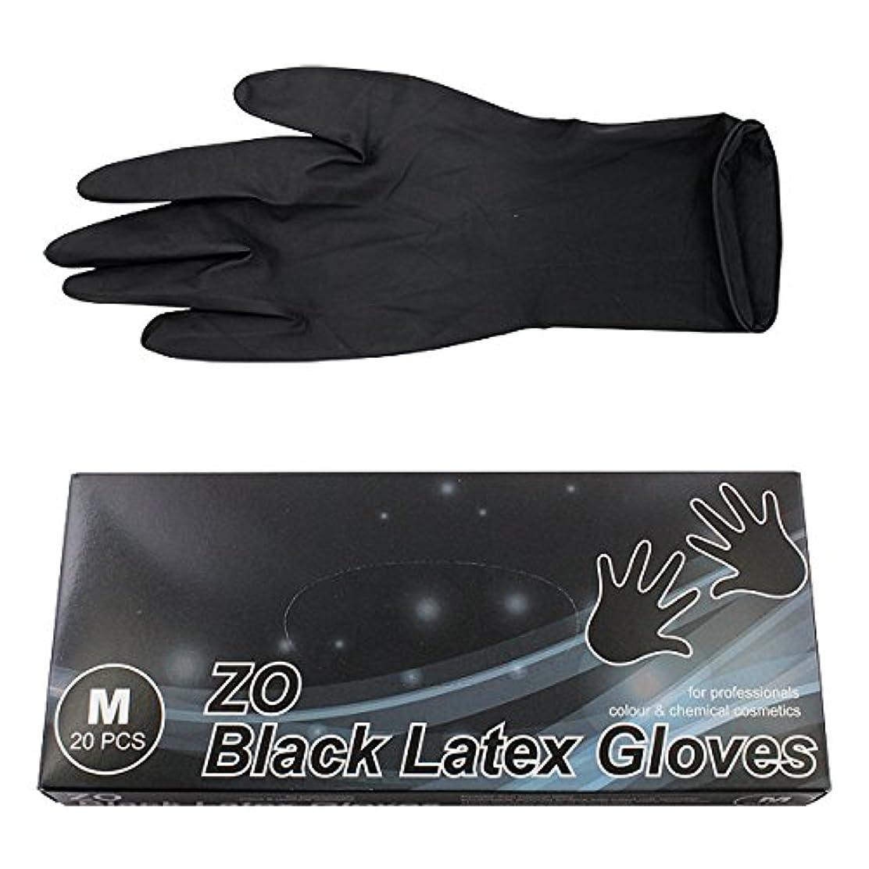 ペニー石鹸特徴づけるZO ZO ブラックラテックスグローブ M 20枚入り