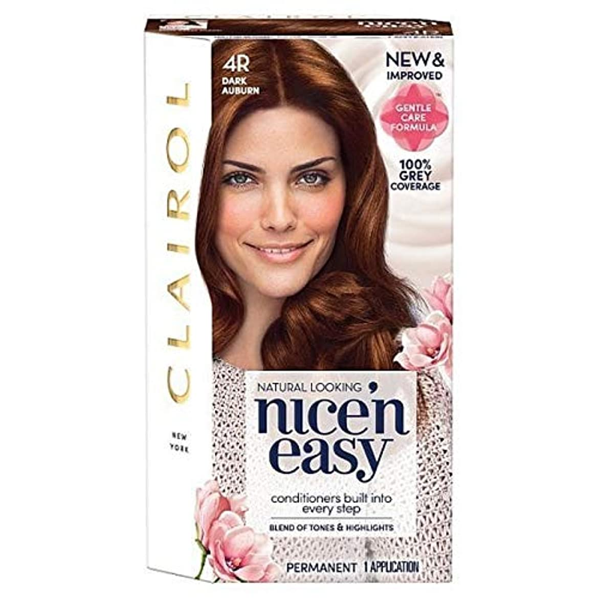 散歩脊椎チロ[Nice'n Easy] Nice'N簡単4R暗い赤褐色 - Nice'n Easy 4R Dark Auburn [並行輸入品]