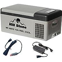 Hewflit 冷蔵冷凍庫 バッテリー内蔵 15L 車載用 12V クーラーボックス 低電圧保護 シガーソケット 家庭用電源 キャンプ アウトドア ドライブ