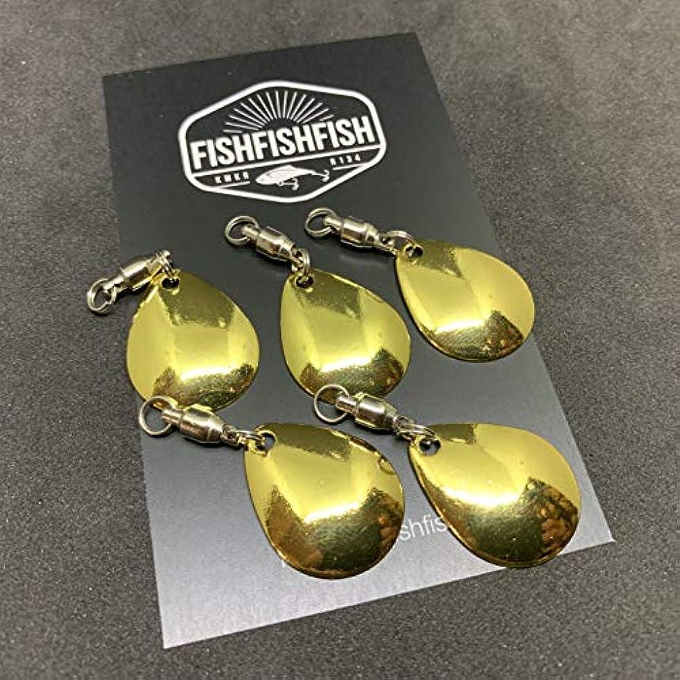【FISHFISHFISH】コロラドブレード 5枚セット Lサイズ メタリック カラー/ルアー改造 メタルジグ スピナー スピンテール用 ブレードチューン