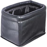 ナポレックス 車用ゴミ箱 ダストボックス 本革調 ブラック 大容量