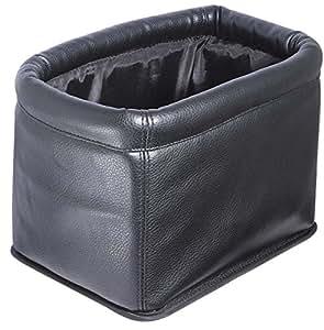 ナポレックス 車用ゴミ箱 ダストボックス 本革調レザータイプ 高級感と使いやすさを追求した完成形 ブラック 大容量