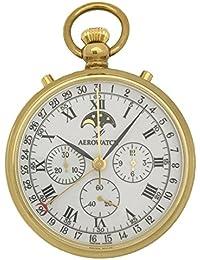 [アエロウォッチ]AEROWATCH 懐中時計 機械式手巻き クロノグラフ ムーンフェイズ SWISS MADE 69681 J101 【正規輸入品】