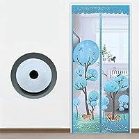 漫画 磁気 網戸,メッシュ マジック テープでドアの画面,マルチ サイズ 玄関カーテン,蚊・害虫アンチ-c 95x210cm(37x83inch)