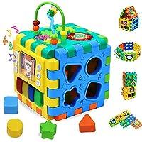 ACHICOO 6 in 1多目的ビルディングブロックおもちゃ キッズ色ソータービーズ 学習クロックスキルの向上教育 ゲームおもちゃ