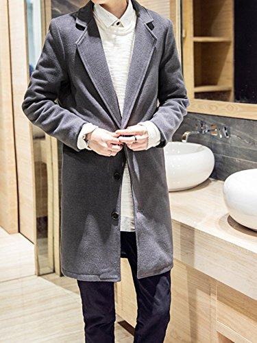 Shop358 秋冬 メンズ ウール メルトン テーラード ジャケット 細身 コート 防寒 保温 デザイン 大きいサイズ 全6色