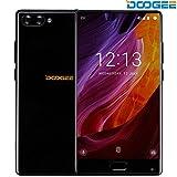 スマートフォン, DOOGEE MIXスマートフォンSIMフリー(デュアルSIMフリー5.5インチAMOLED HDスクリーン4G Android 7.0 MTHelio P25オクタコア4GB RAM+64GB ROM 16MP+8MPカメラ)スマホ 黒