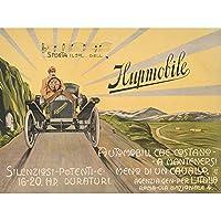 Advert Classic Car Automobile Italy Rome Hupmobile. Art Canvas Print