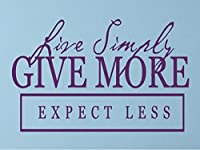 "Vinylsay Live simply, give more, expect less Wall Decal, 22""x 14%・・橸セ鯉セ橸セ呻スク・ォ・ー・・, Gloss Purple [並行輸入品]"