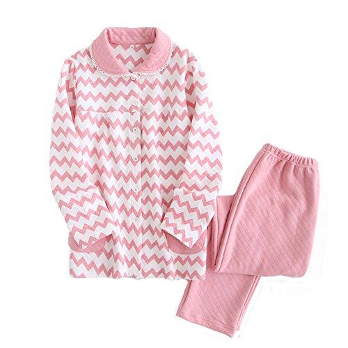 [해외]Royanney 잠옷 여성 룸웨어 출산면 오가닉 코튼 100 긴팔 겨울 전 열고 출산 잠옷 산후 잠옷 잠옷 상하 세트인지 스트라이프/Royanney Pajamas Ladies` room wear Maternity cotton organic cotton 100 long sleeve winter front opening maternity ...