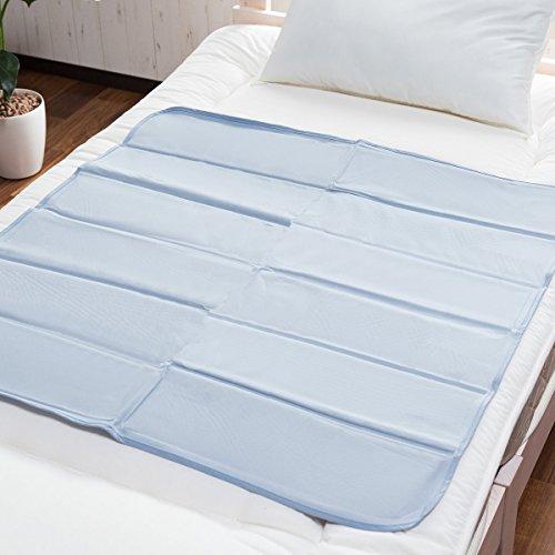 自然なひんやり感 ヒラカワ 接触冷感ひんやりジェルマット 90×90cm 熱中症対策敷きパッド 快眠アイテムベッドパッド 水の力で体内熱吸収 ゴワつかない手触り