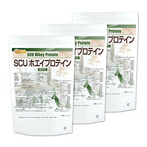 SCU ホエイプロテイン 1kg×3袋 [02] NICHIGA(ニチガ) WPC 豊かな風味