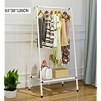 金属衣服衣服棚床掛け掛け掛け掛け掛け掛け掛け掛け布団乾燥棚掛けユニット収納オーガナイザーホワイト (色 : 白)